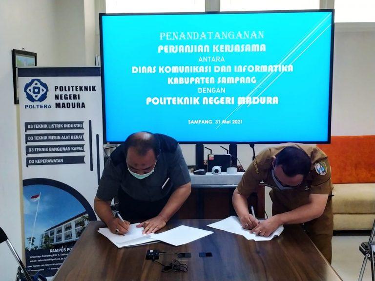 Penandatanganan Perjanjian Kerja Sama antara Diskominfo dengan Poltera
